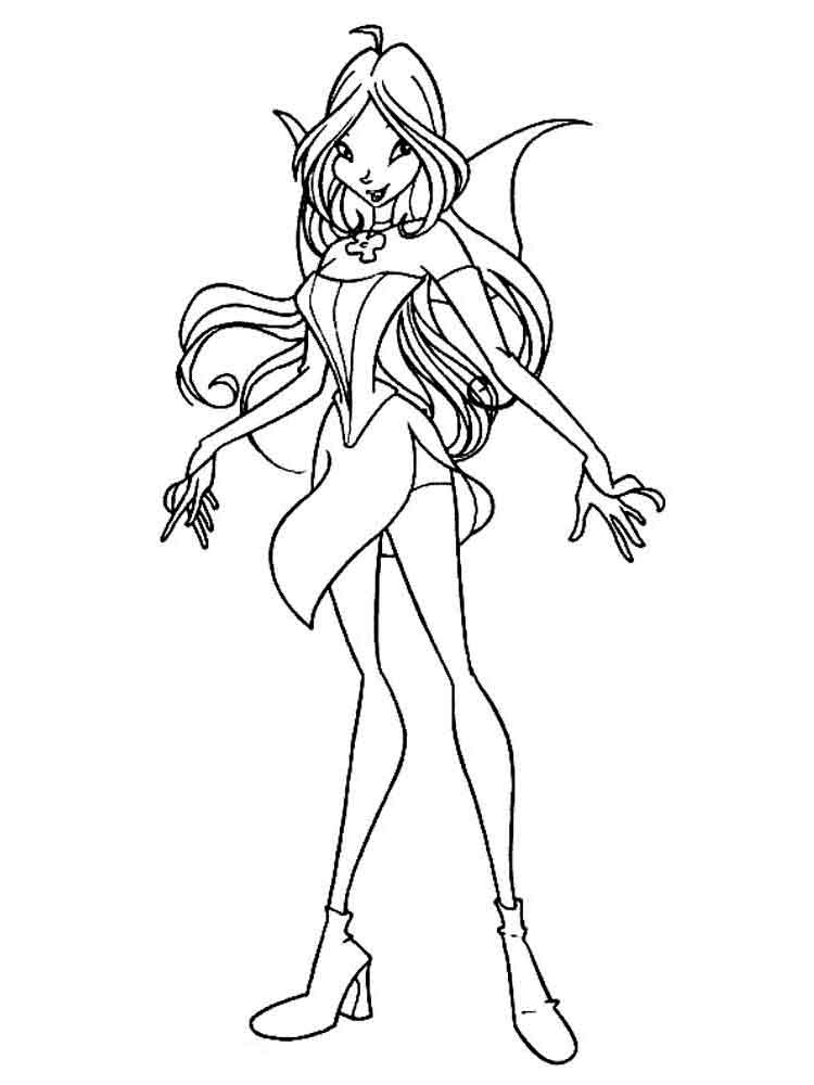 coloring winx club flora winx coloring pages download and print flora winx winx club coloring