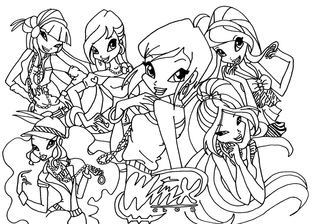 coloring winx club world of winx coloring pages casual outfit winx club all coloring club winx