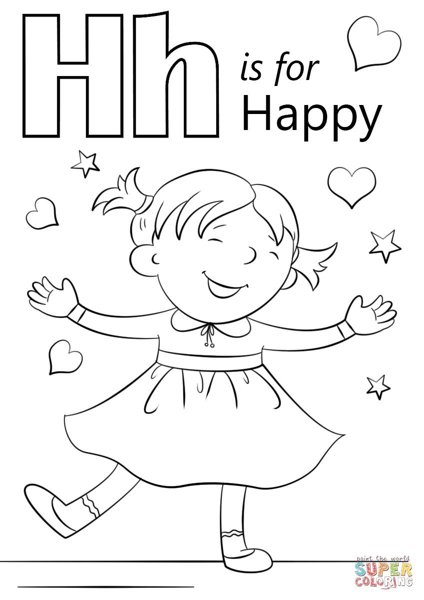 coloring worksheet letter h letter h is for happy coloring page free printable letter coloring h worksheet