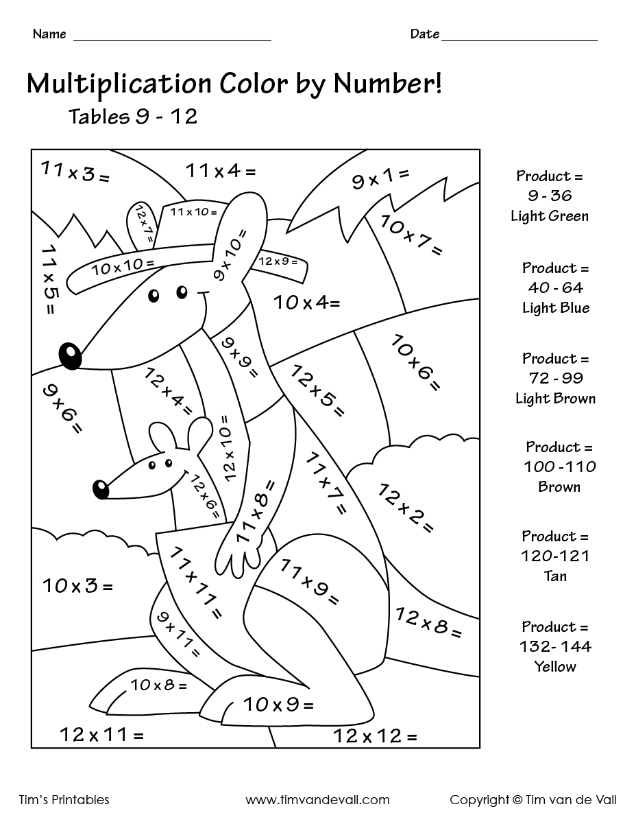 coloring worksheets multiplication free color by multiplication code worksheet madebyteachers coloring worksheets multiplication