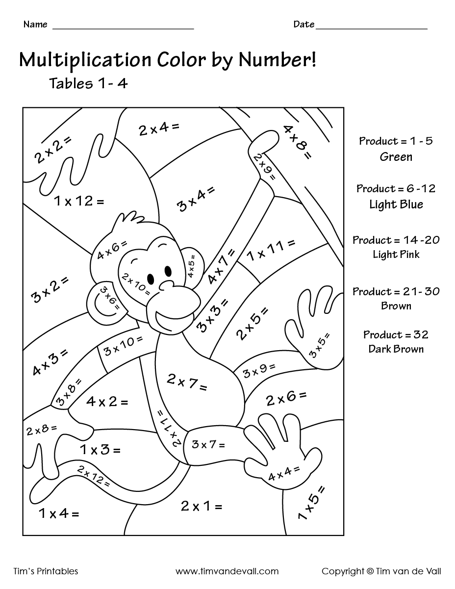 coloring worksheets multiplication free printable math coloring pages for kids worksheets coloring multiplication