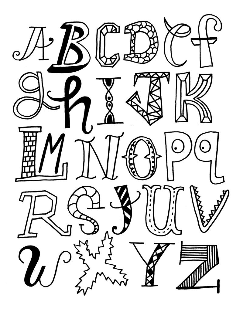 colour in letters of the alphabet alphabet doodle alphabet coloring pages for kids to colour of letters in alphabet the