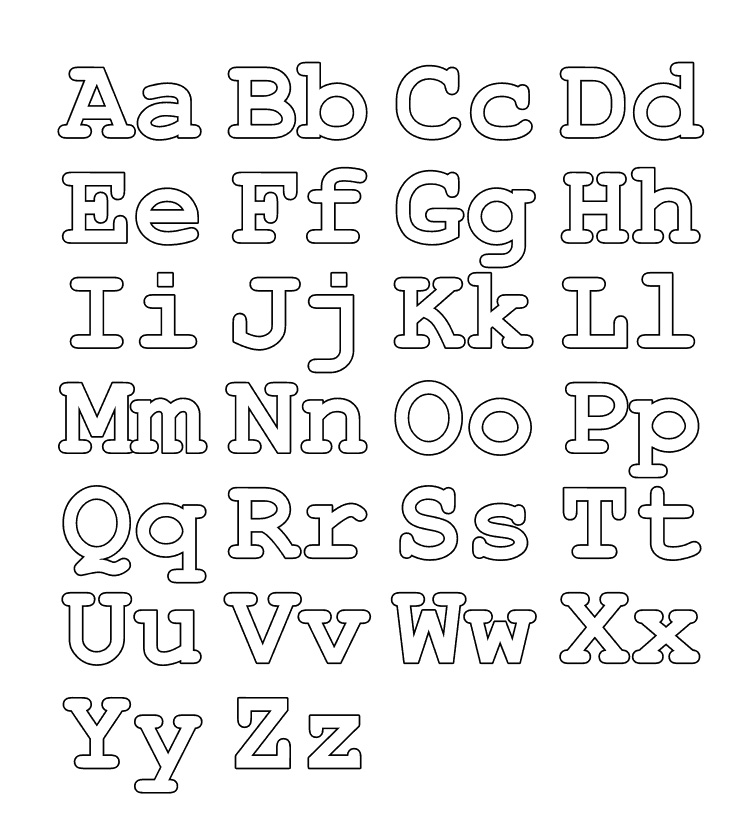 colour in letters of the alphabet color the alphabet alphabet color pages colour in letters of the alphabet