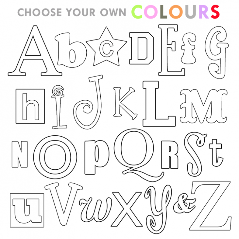 colour in letters of the alphabet coloring pages letter coloring pages for kids a z the letters alphabet colour of in