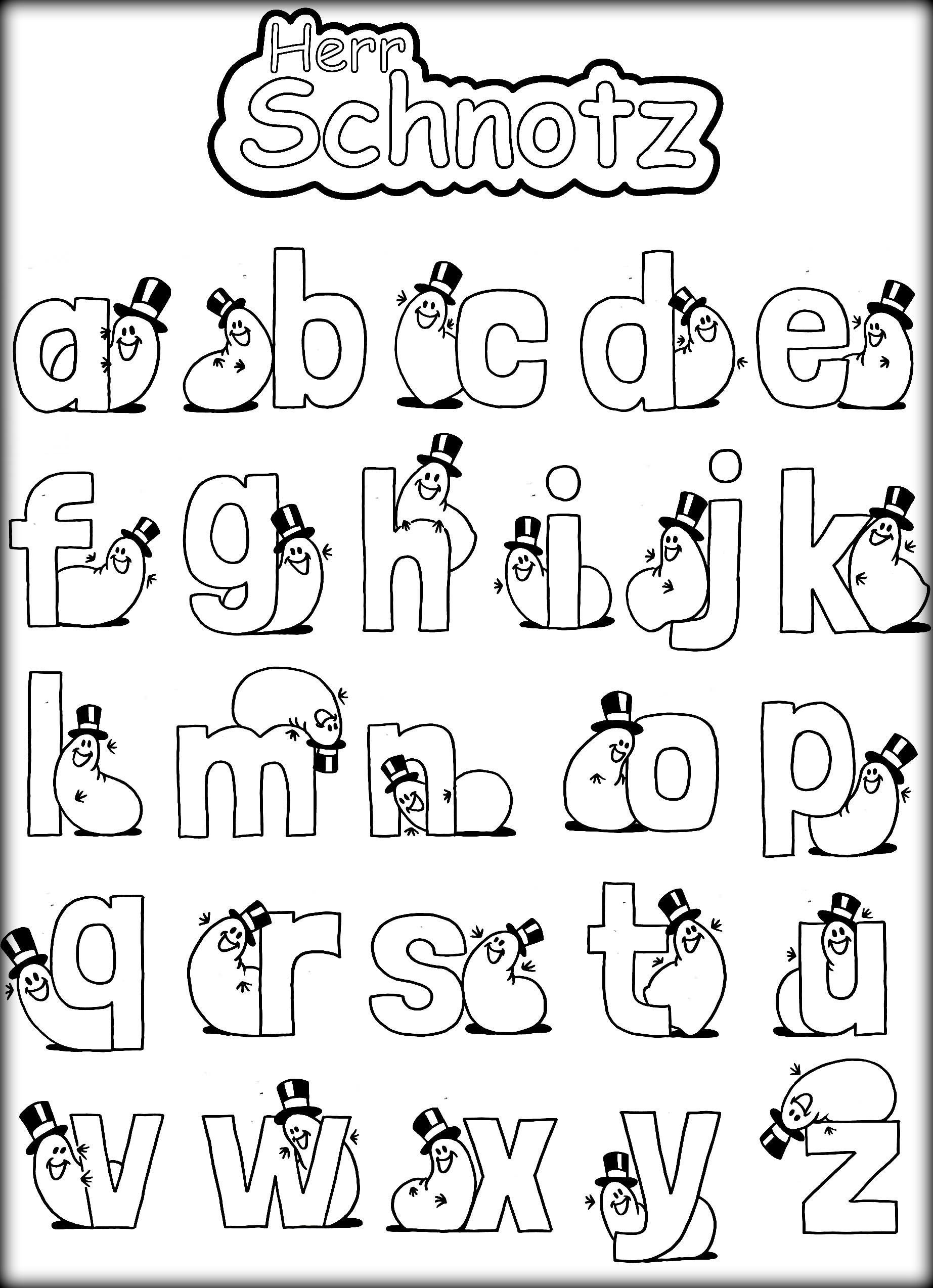 colour in letters of the alphabet free printable coloring alphabet letters ausdruckbares colour letters of alphabet the in