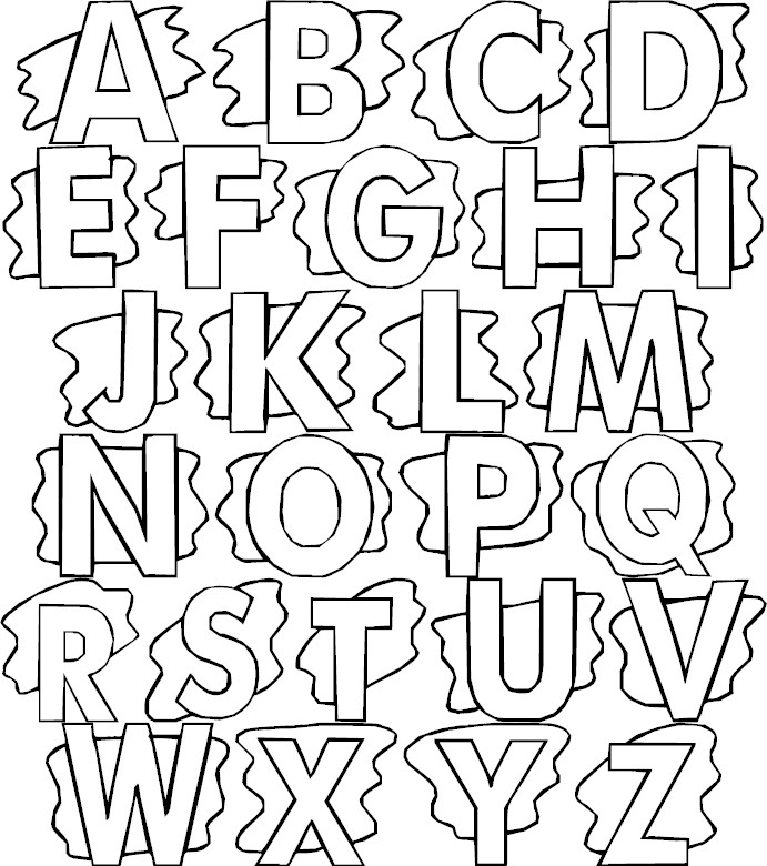 colour in letters of the alphabet full alphabet coloring page alphabet letters in of the colour