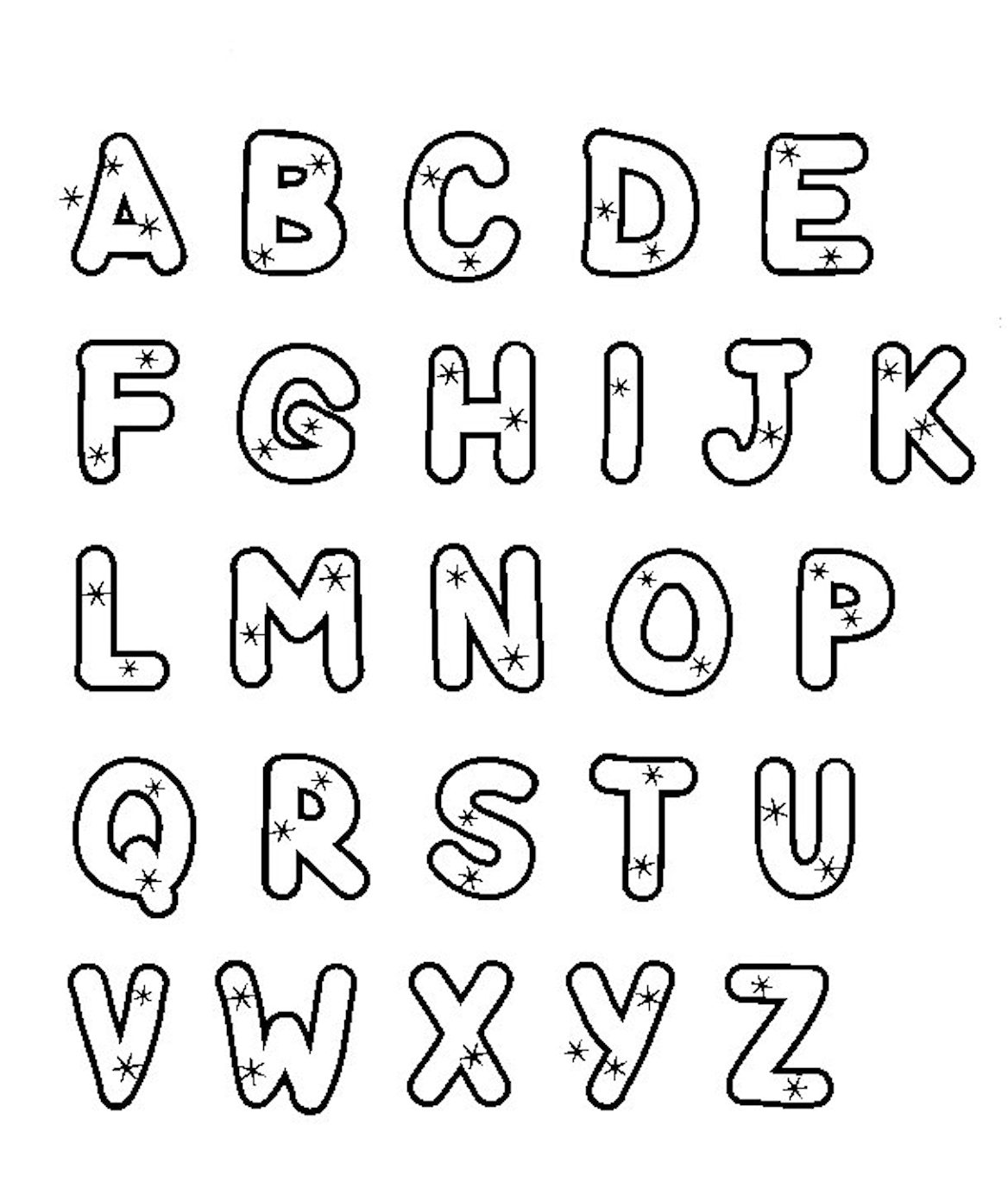 colour in letters of the alphabet fun coloring pages alphabet coloring pages the of in colour letters alphabet