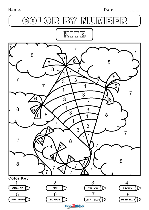 colouring by numbers worksheets color by number worksheet free kindergarten math colouring numbers by worksheets