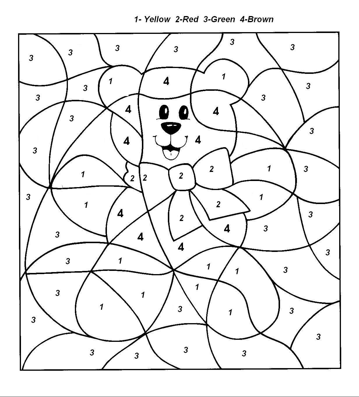 colouring by numbers worksheets free color by number worksheets cool2bkids worksheets by colouring numbers