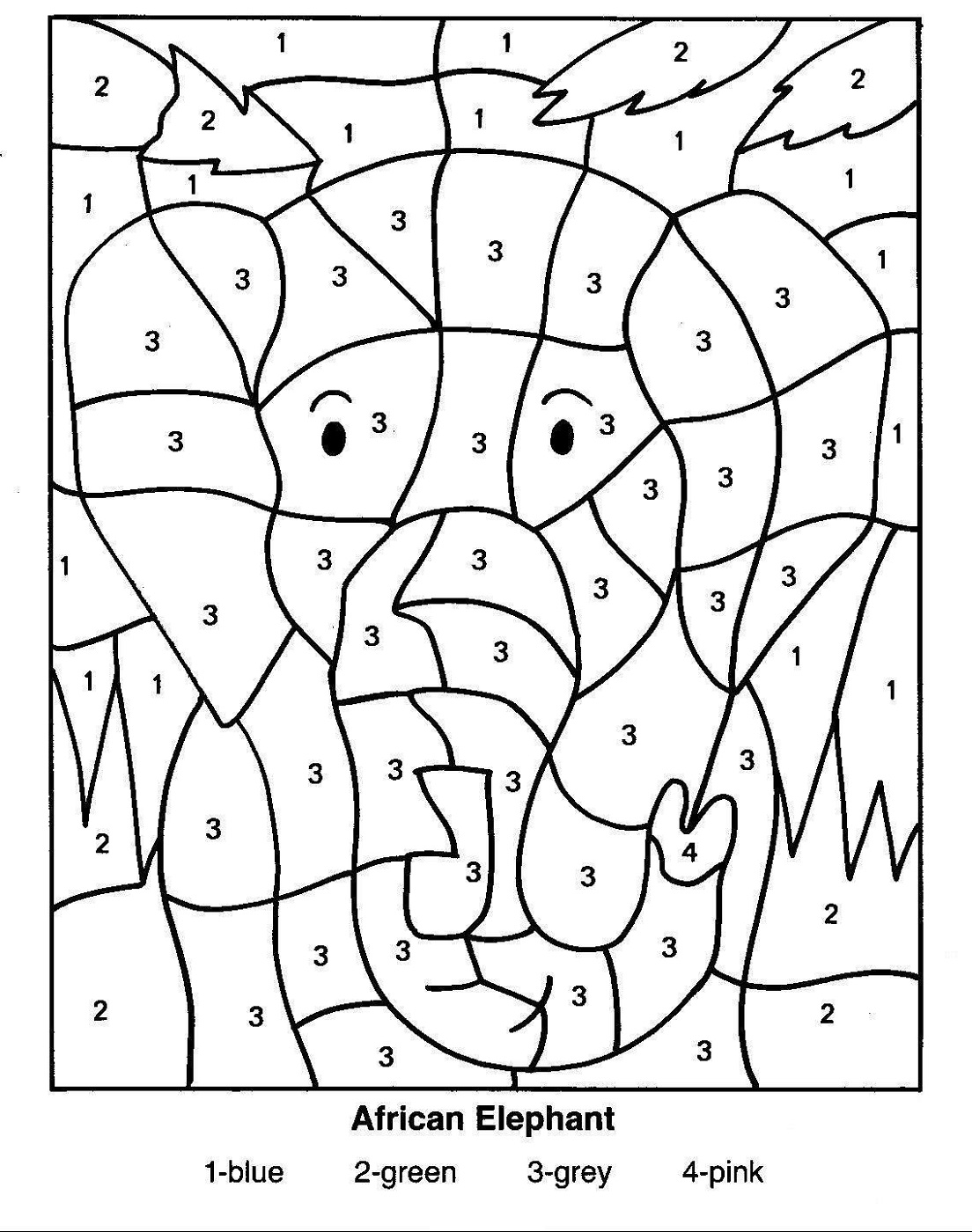 Colouring by numbers worksheets