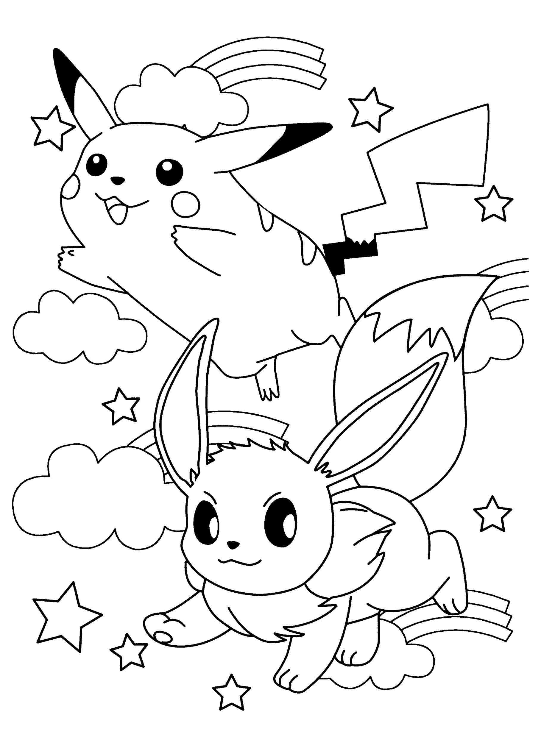 colouring in pokemon pokemon coloring pages eevee evolutions coloring home in colouring pokemon