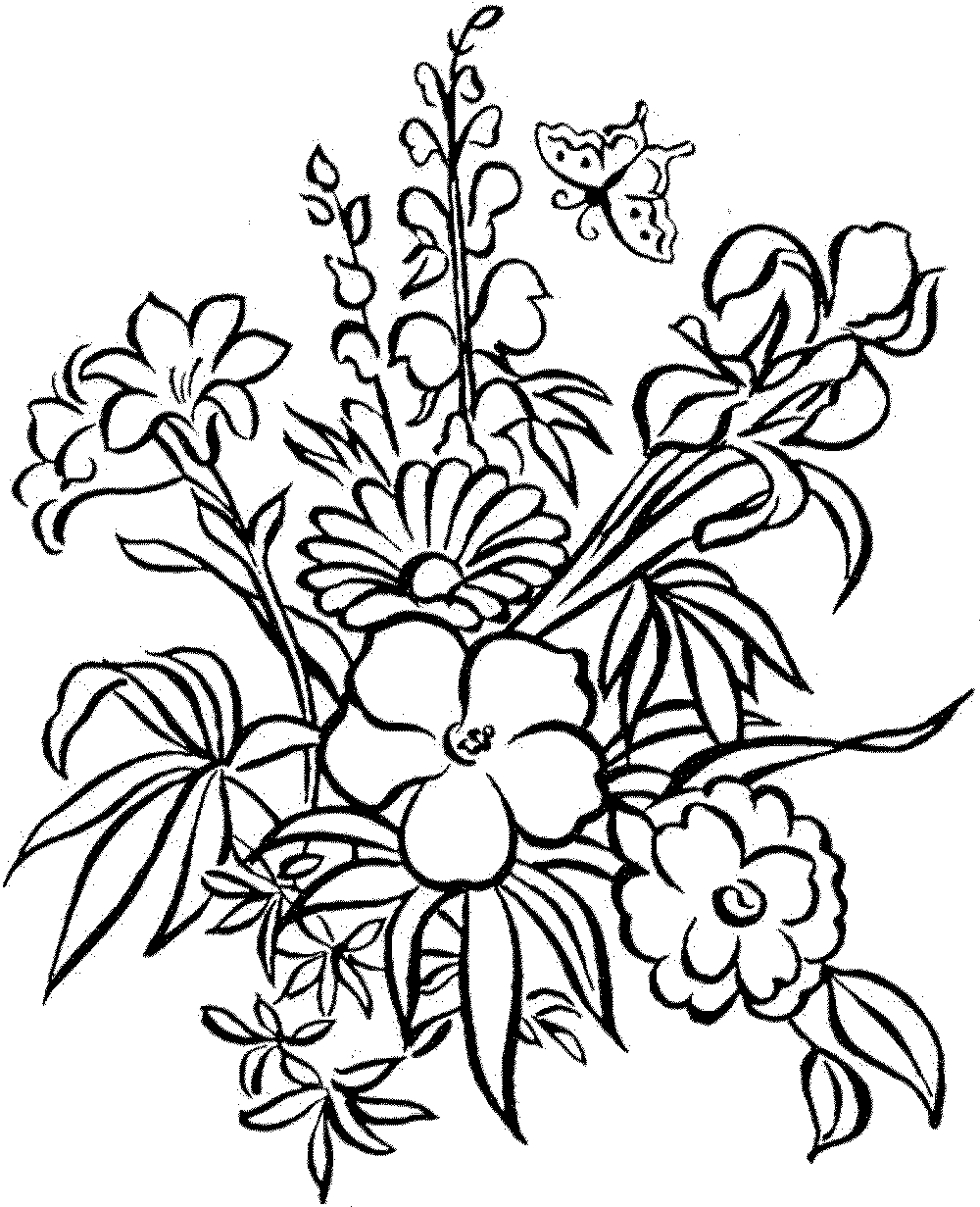 colouring page of flowers free download to print beautiful spring flower coloring colouring of page flowers