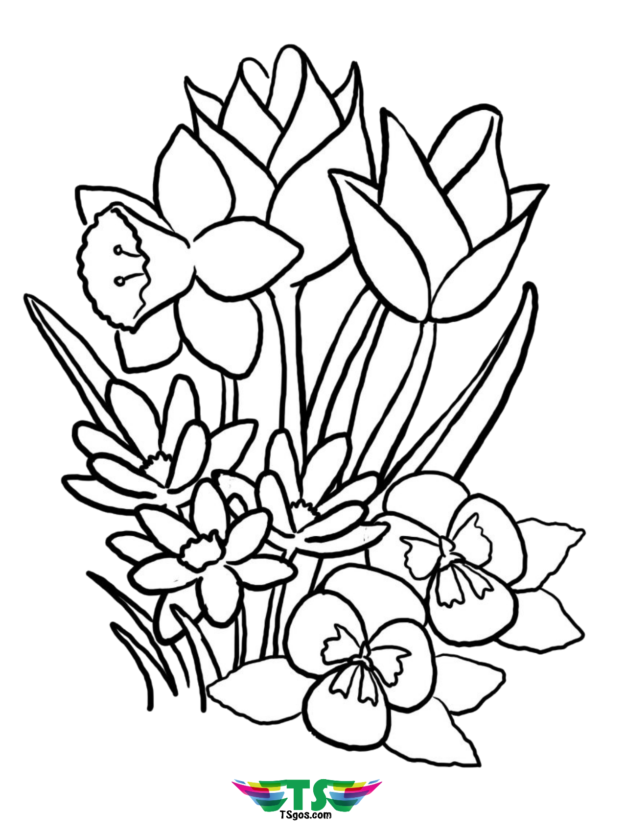 colouring page of flowers free easy to print flower coloring pages tulamama page colouring flowers of