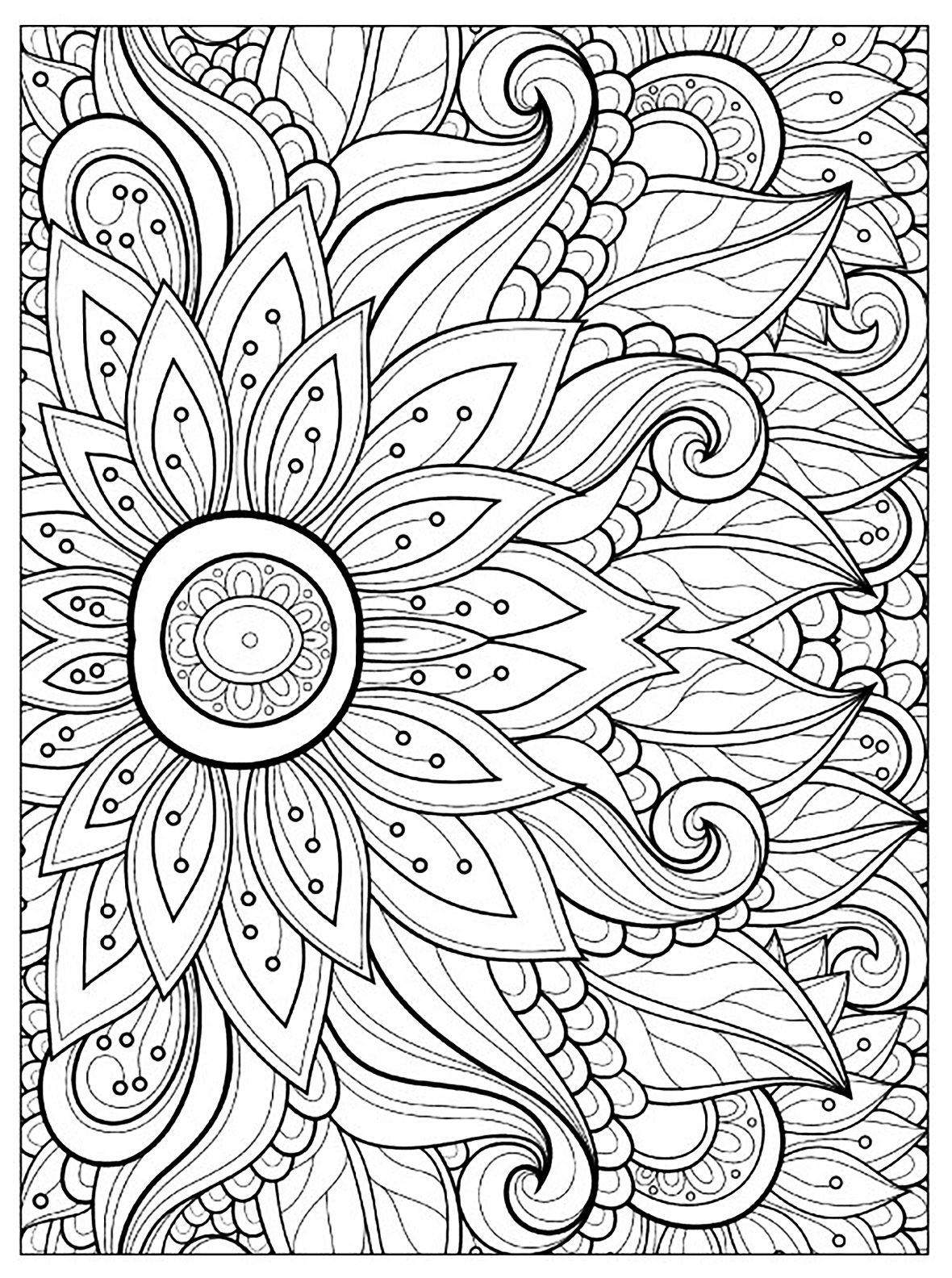 colouring page of flowers free printable beautiful flowers coloring page for kids colouring flowers page of