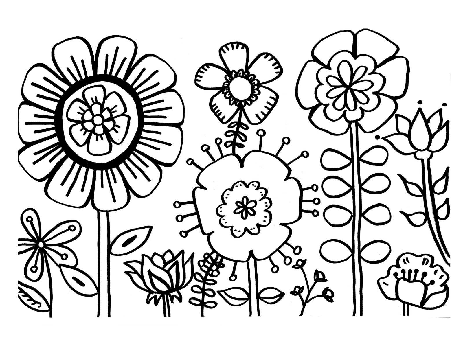 colouring page of flowers free printable flower coloring pages for kids flowers of colouring page