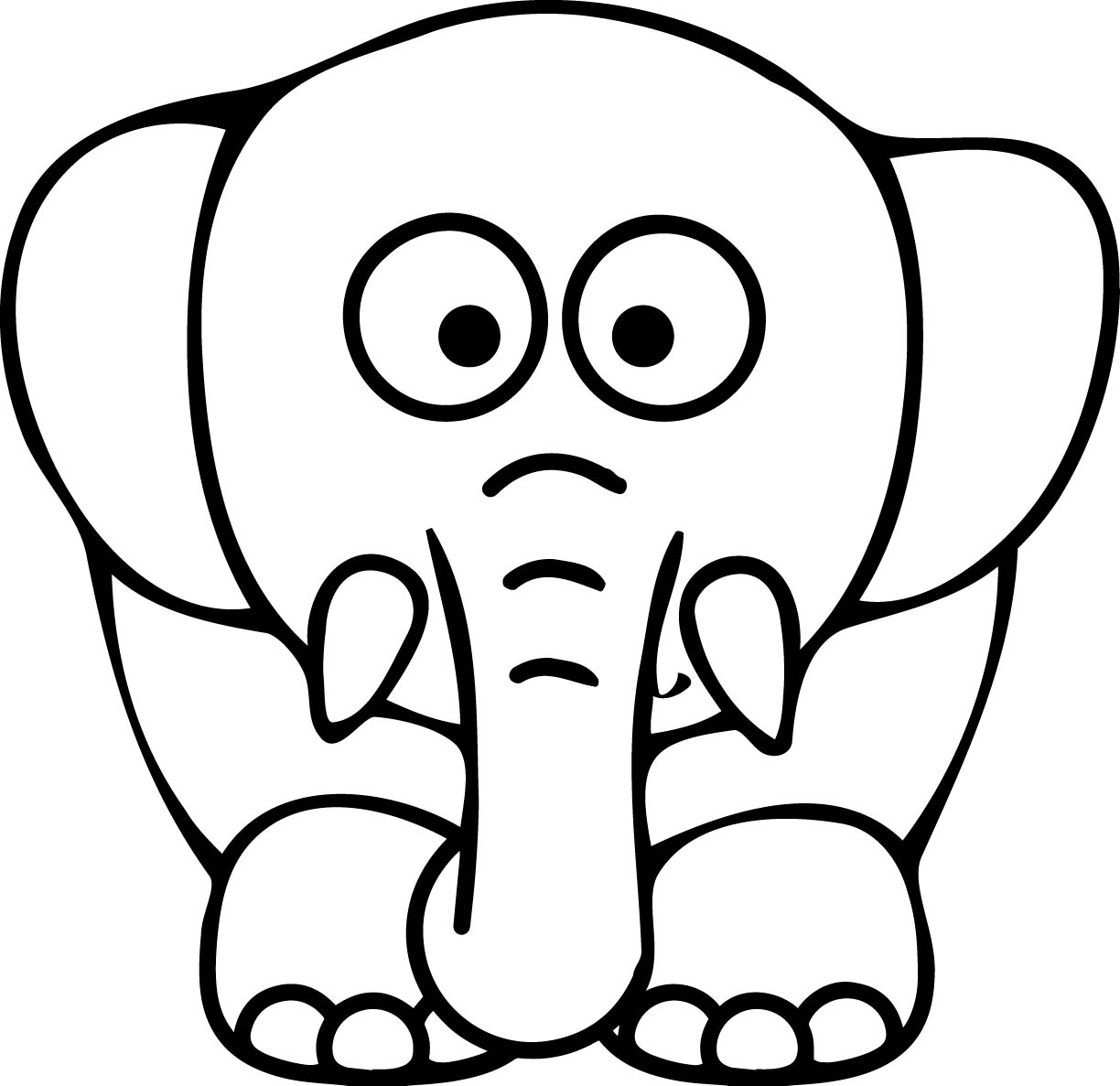 colouring pages of elephant baby elephant cartoon drawing at getdrawings free download elephant of colouring pages