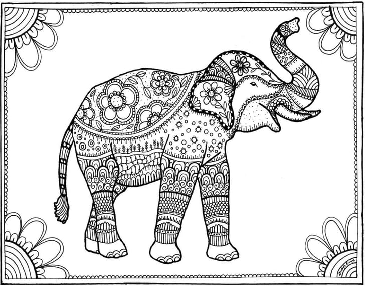 colouring pages of elephant elephant drawing cartoon at getdrawings free download pages elephant colouring of