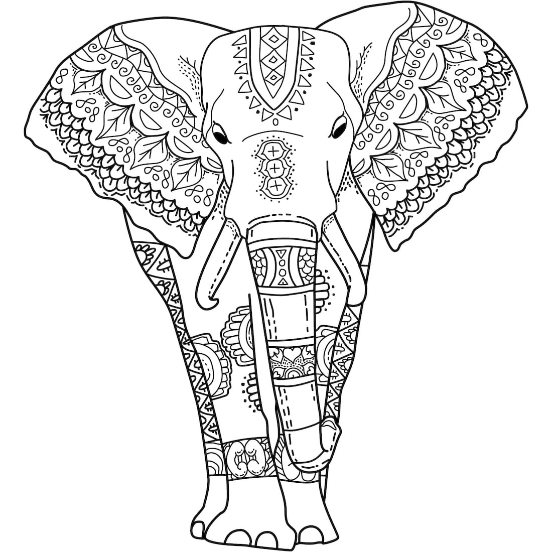 colouring pages of elephant elephant drawing pages at getdrawings free download colouring elephant pages of