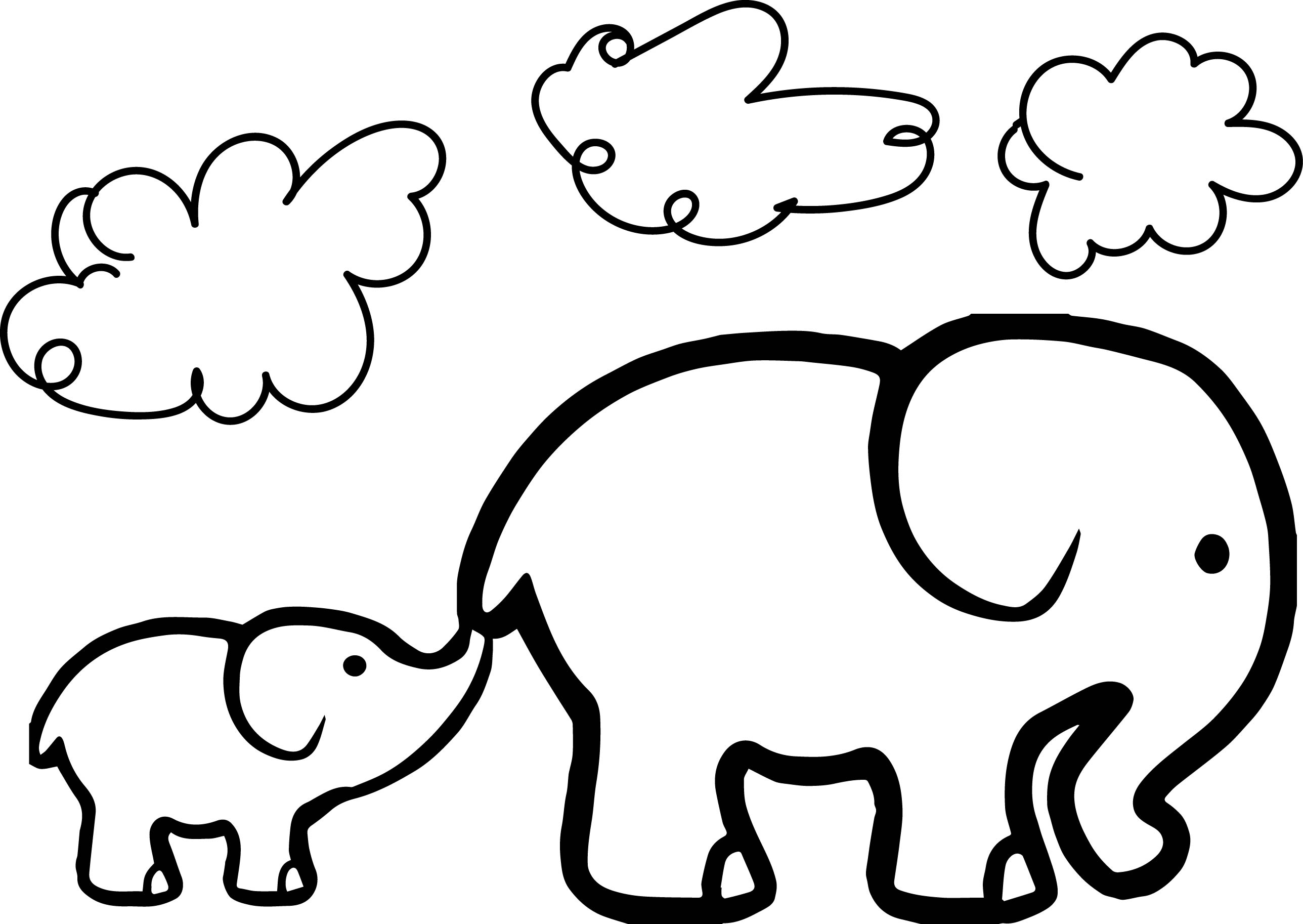 colouring pages of elephant elephant drawing tumblr at getdrawings free download colouring elephant of pages