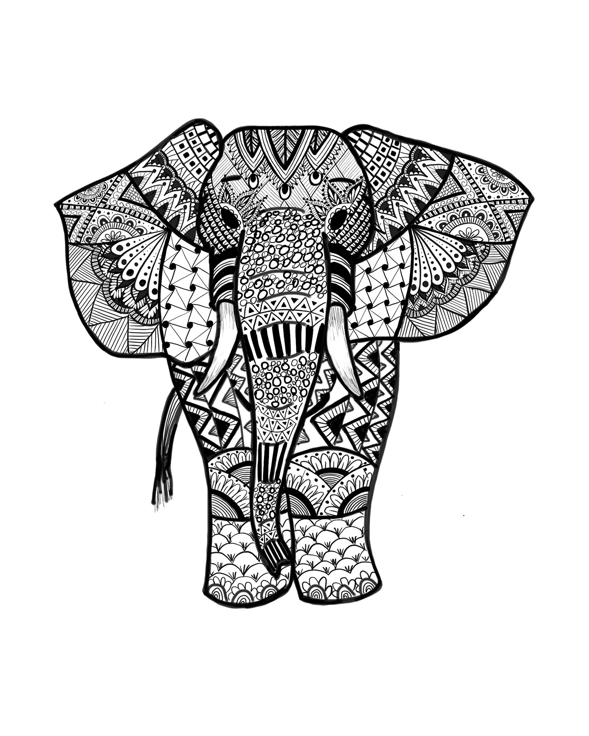 colouring pages of elephant free easy to print elephant coloring pages tulamama of colouring elephant pages