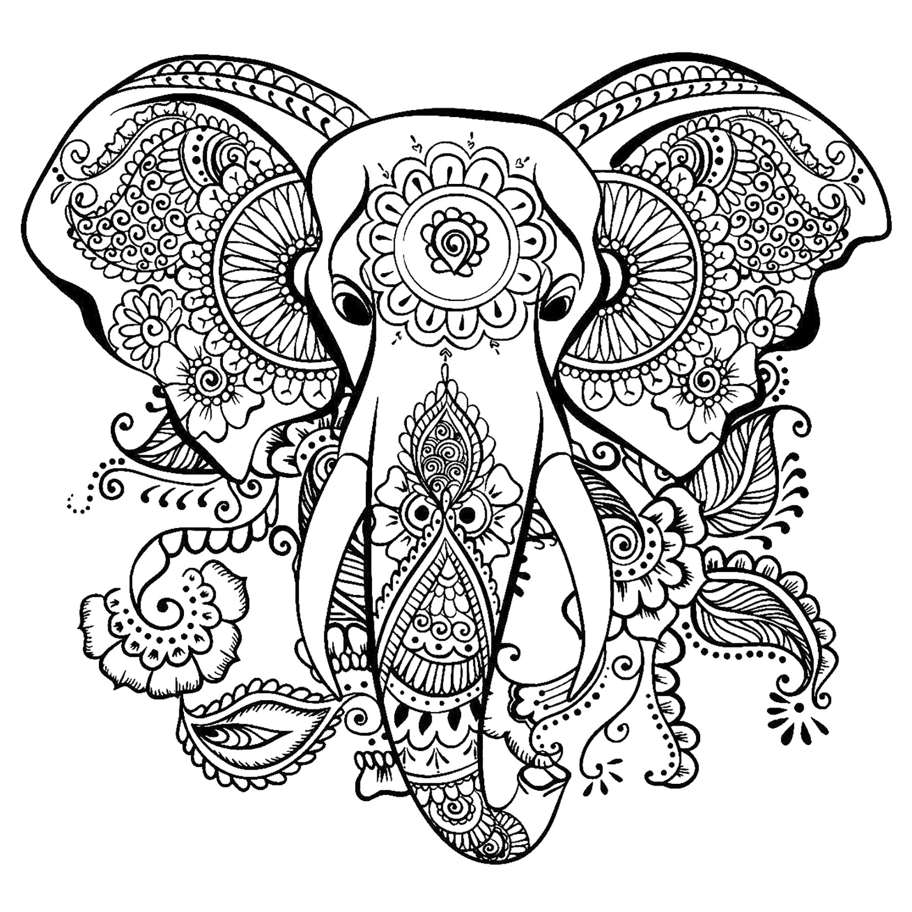 colouring pages of elephant print download teaching kids through elephant coloring colouring of elephant pages