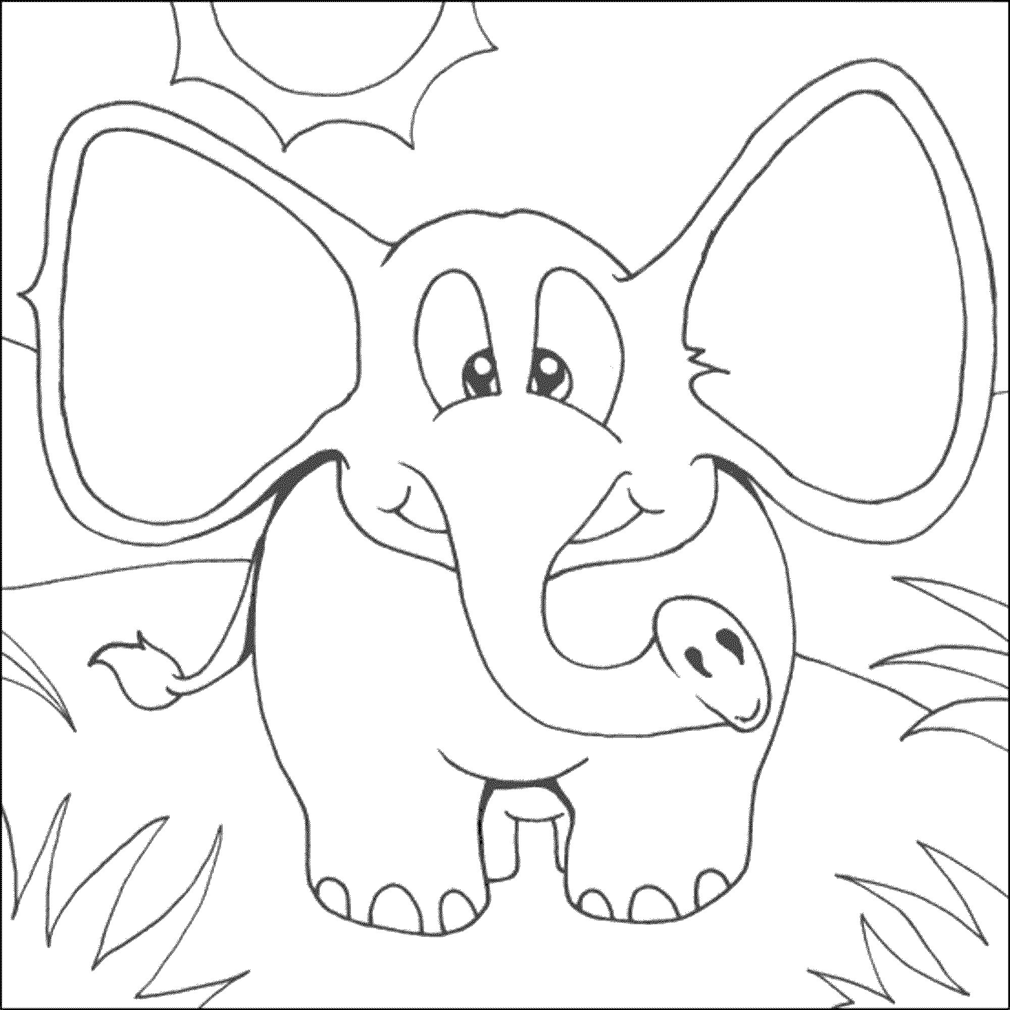 colouring pages of elephant print download teaching kids through elephant coloring colouring of pages elephant