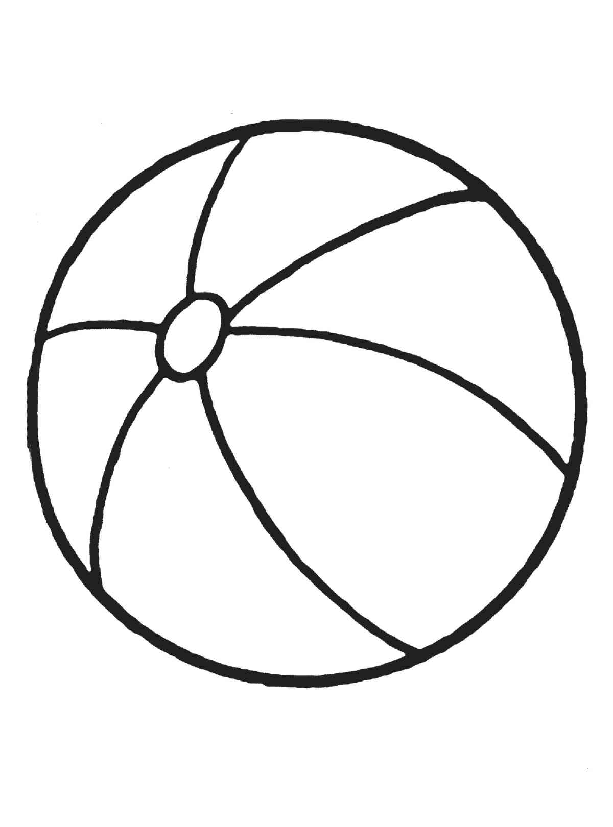 Colouring picture of a ball