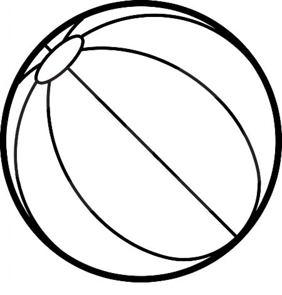 colouring picture of a ball beach ball coloring page coloring pages for kids picture colouring a of ball