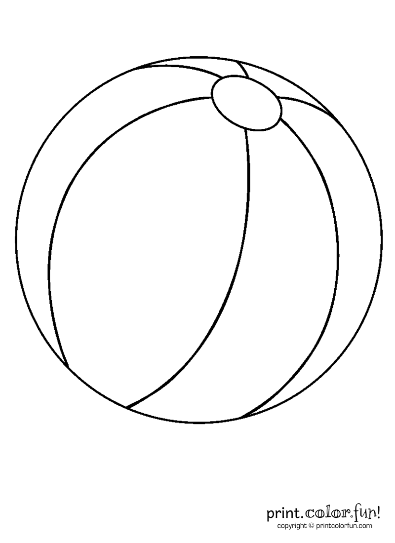 colouring picture of a ball beach ball coloring page free printable coloring pages ball of picture a colouring
