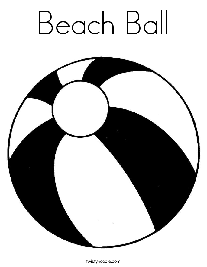 colouring picture of a ball beach ball coloring page twisty noodle ball a colouring of picture