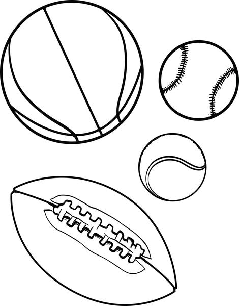 colouring picture of a ball free printable sports balls coloring page for kids supplyme ball colouring picture of a