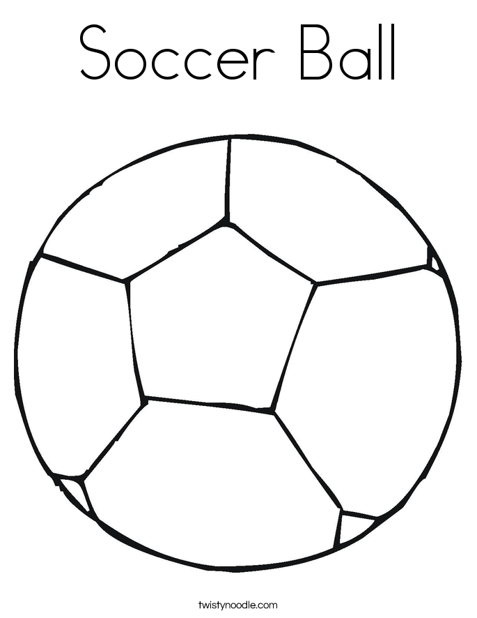 colouring picture of a ball soccer ball coloring page cursive twisty noodle of ball a picture colouring