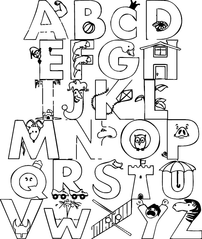 colouring pictures of alphabets block letter coloring pages at getcoloringscom free colouring of pictures alphabets