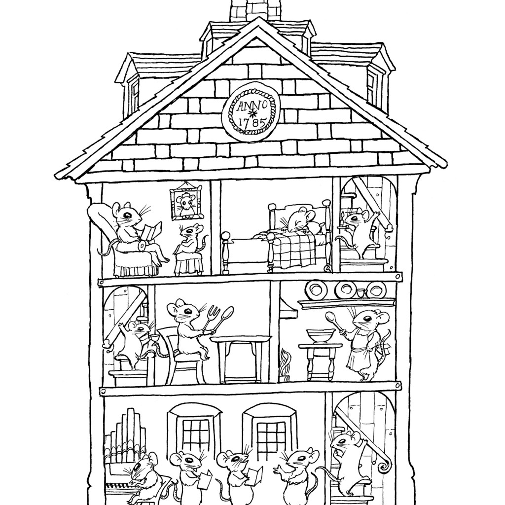 colouring pictures of houses free printable haunted house coloring pages for kids colouring pictures of houses