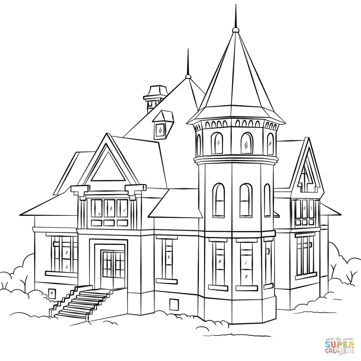 colouring pictures of houses victorian house coloring page free printable coloring pages pictures of houses colouring