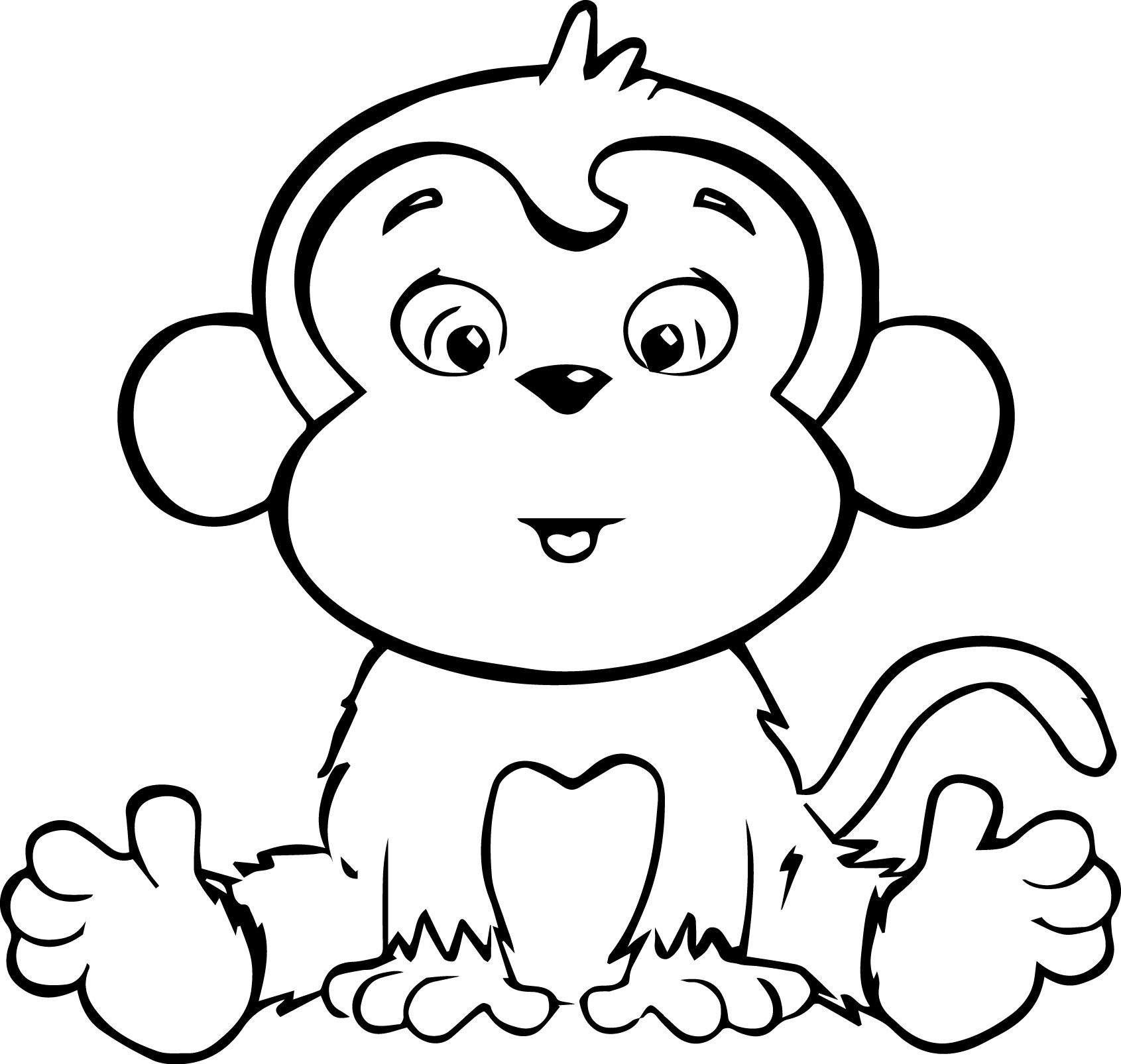 colouring pictures of monkeys cartoon coloring pages wecoloringpagecom of colouring monkeys pictures