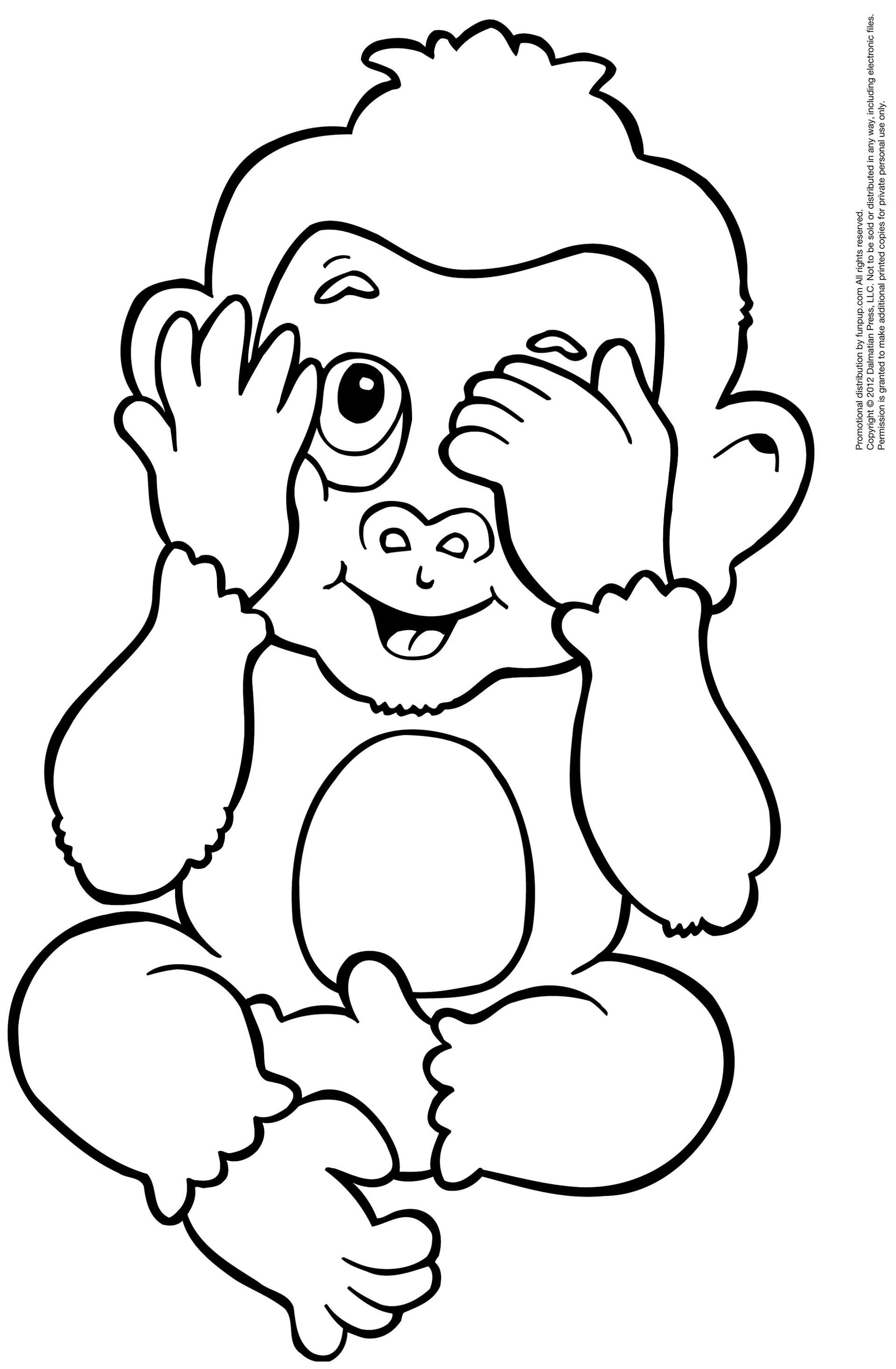 colouring pictures of monkeys free printable monkey coloring pages for kids monkeys pictures of colouring