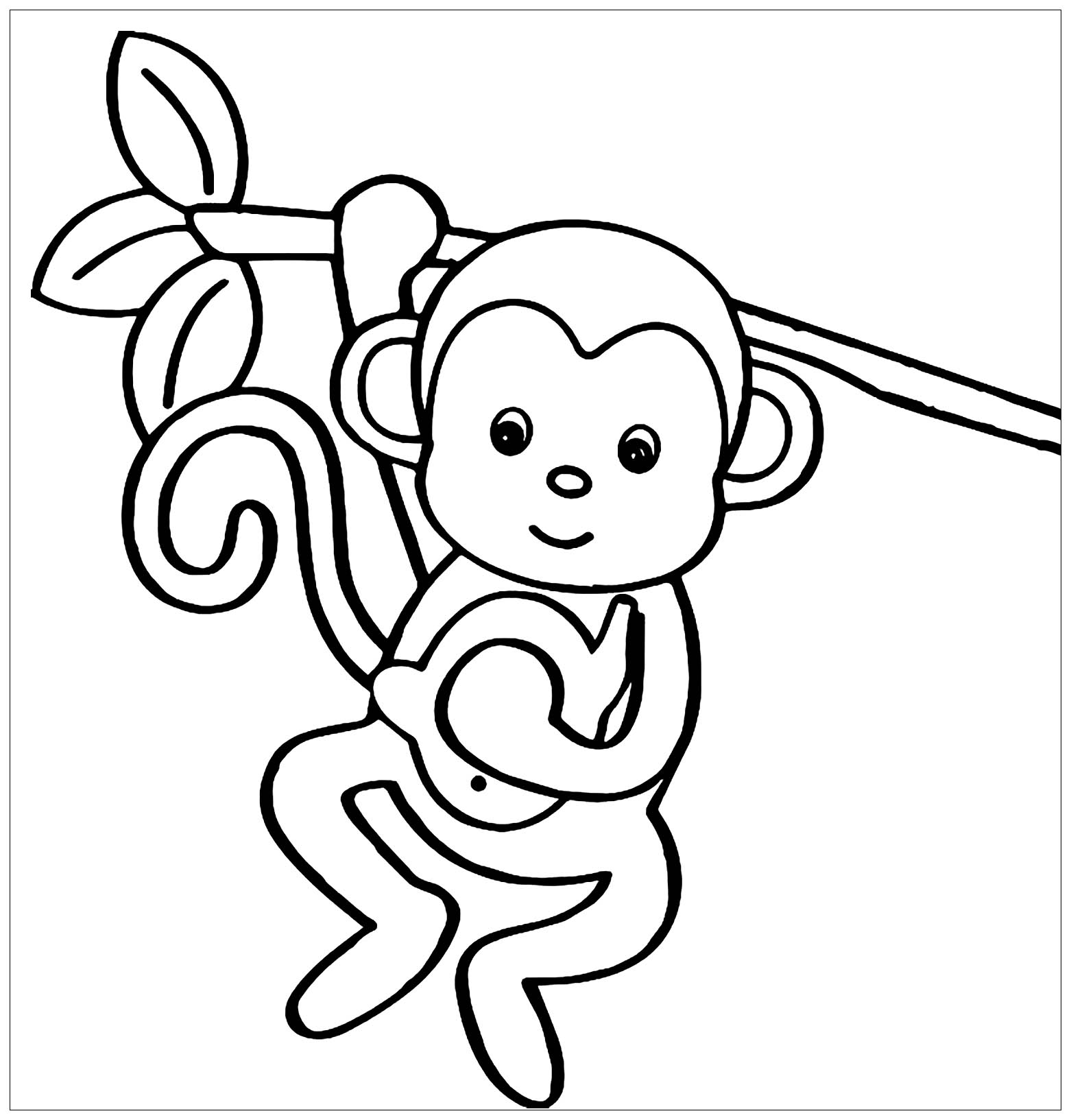 Colouring pictures of monkeys