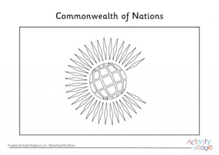 Commonwealth countries flags printable