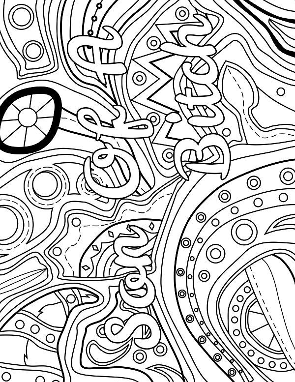 cool abstract coloring pages abstract adult coloring page swear 14 free printable cool coloring abstract pages