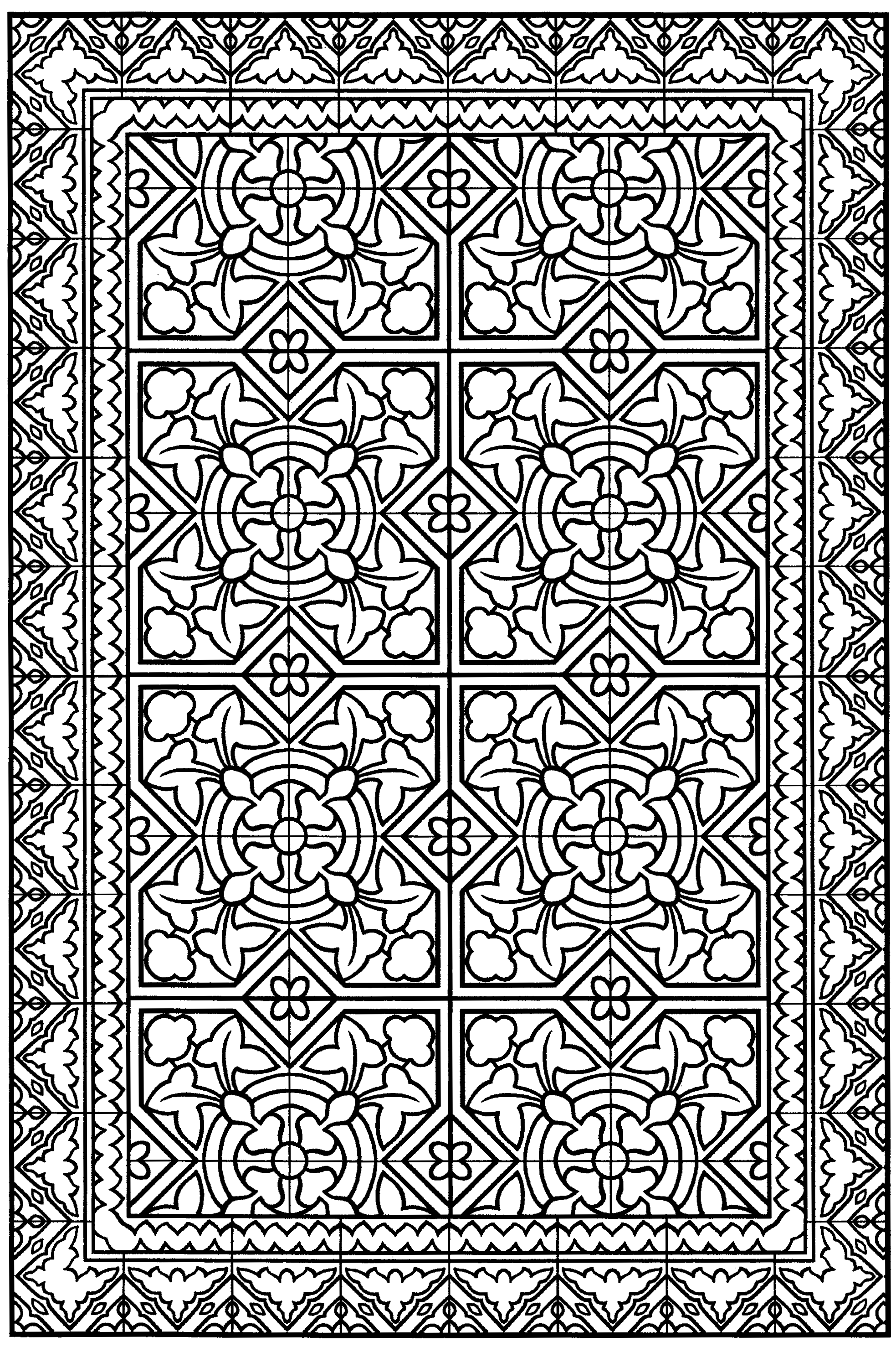 cool abstract coloring pages page 10 from decorative tile designs by marty noble pages cool abstract coloring