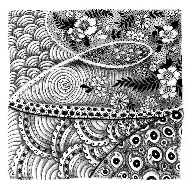 cool zentangles playing with patterns in 2020 tangle art zentangle cool zentangles