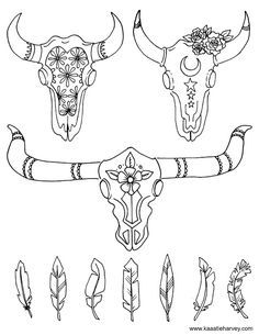 cow skull coloring pages quotcow skull and roses quot by emilylogan redbubble cow coloring pages skull