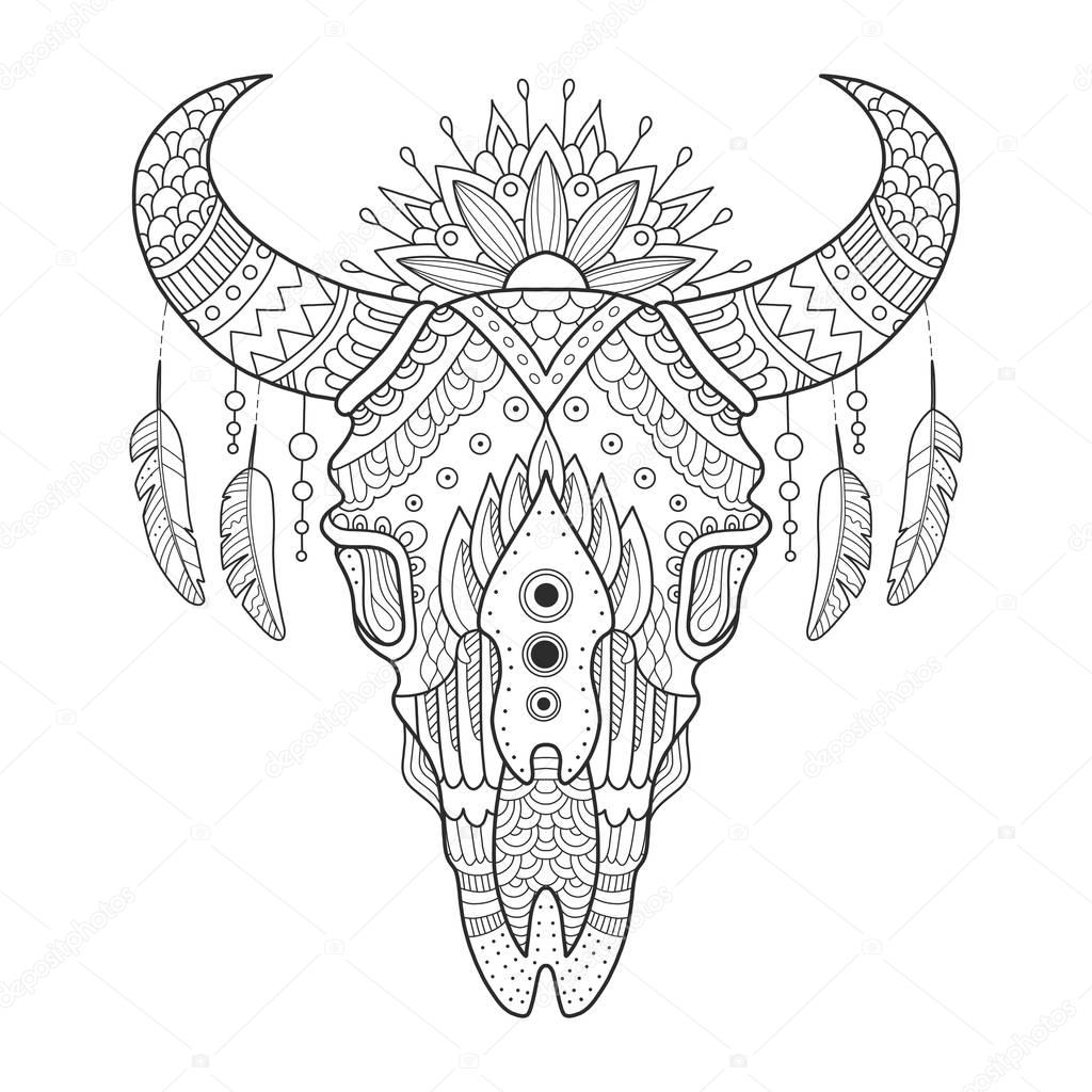 Cow skull coloring pages