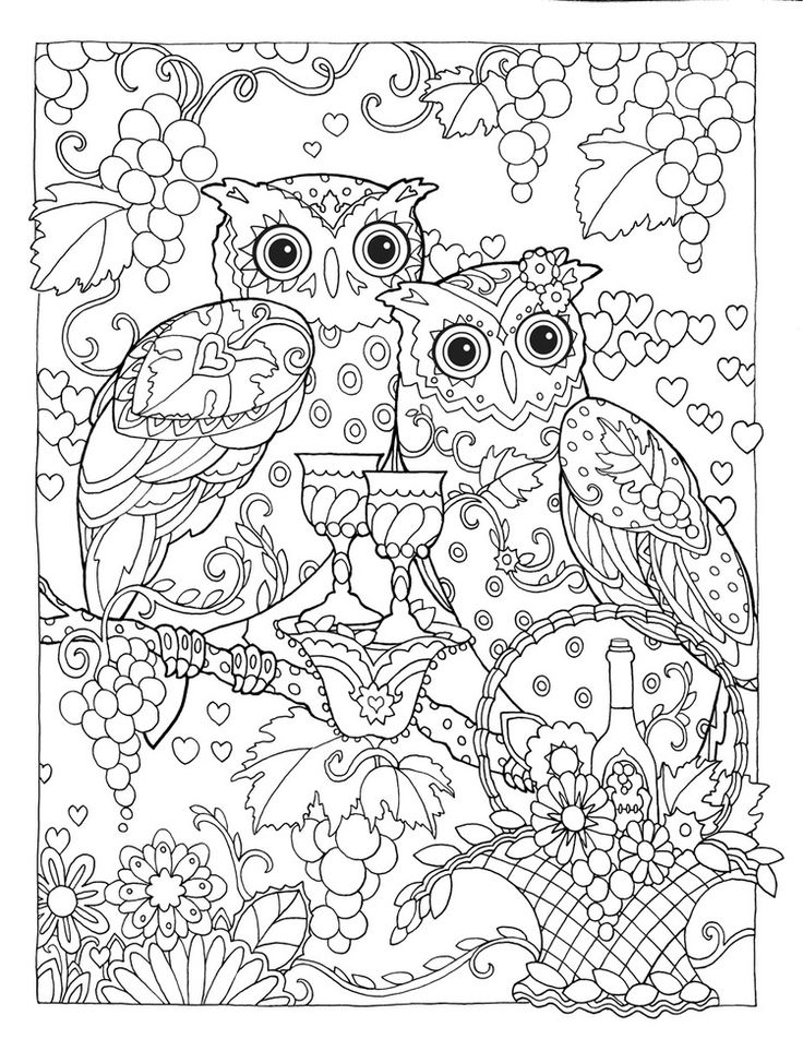 Creative colouring pages