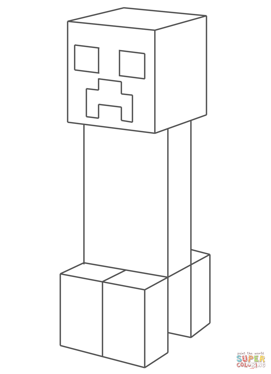 creeper coloring pages creeper coloring page free printable coloring pages creeper pages coloring