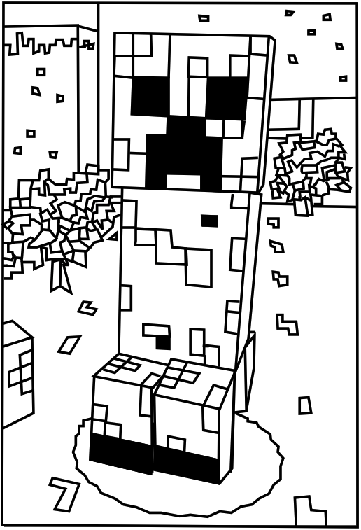 creeper coloring pages free printable creeper coloring picture assignment pages coloring creeper