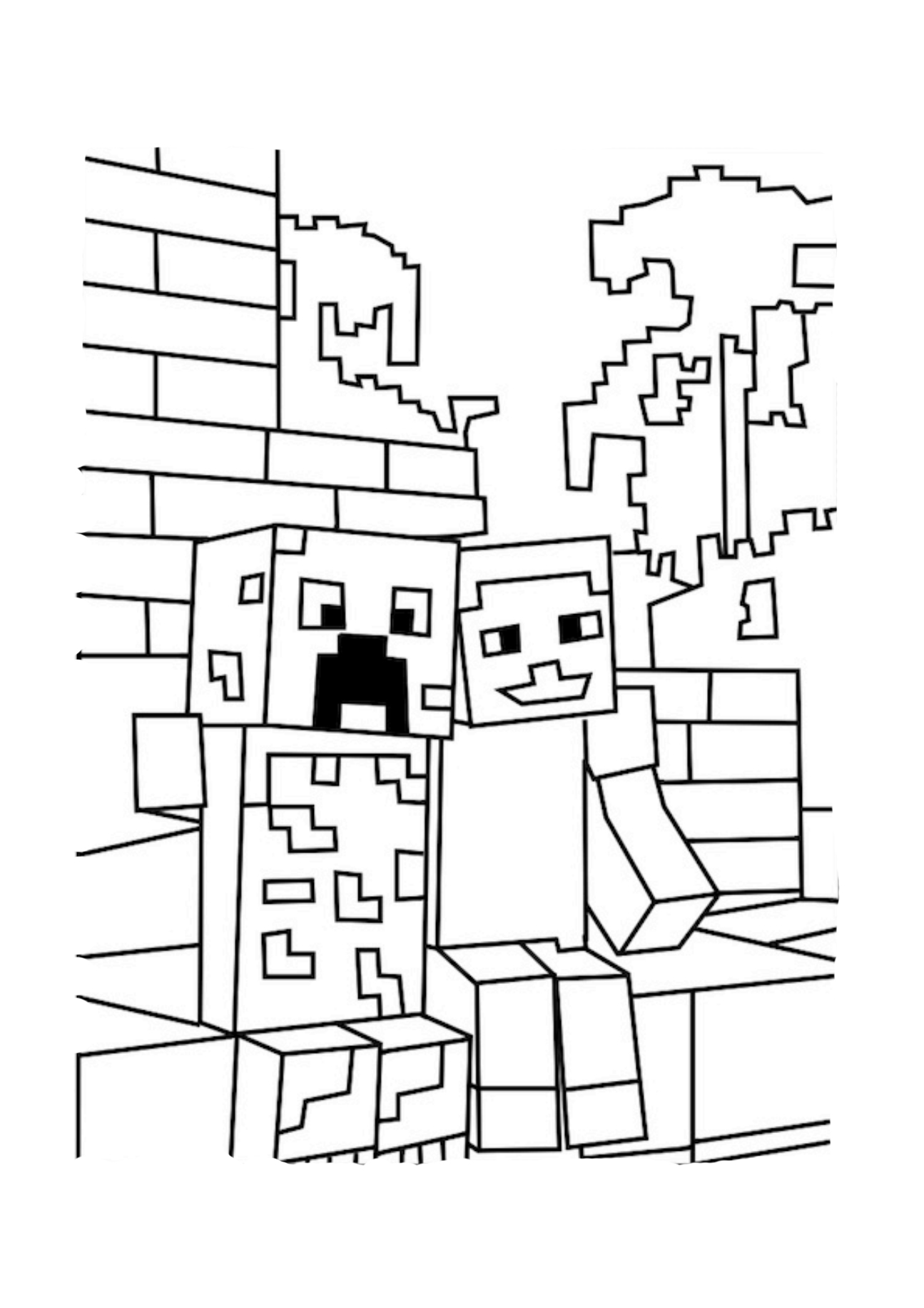 creeper coloring pages minecraft coloring pages creeper face at getcoloringscom pages coloring creeper