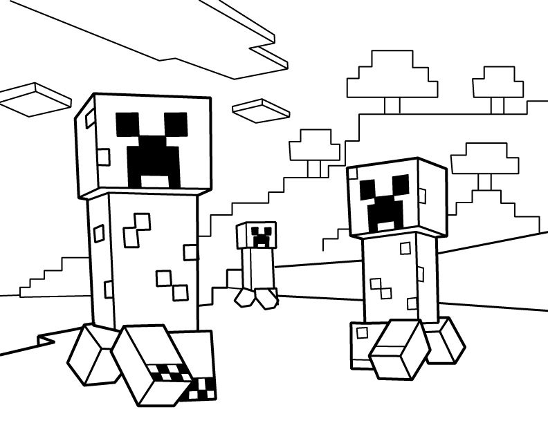 creeper coloring pages minecraft creeper coloring pages printable pages creeper coloring