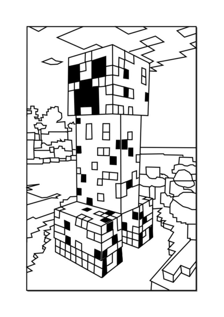 creeper coloring pages minecraft creeper pages coloring pages creeper coloring pages